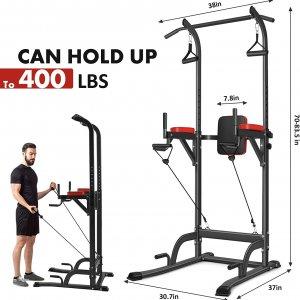 Pull up bar stand med træningselastikker