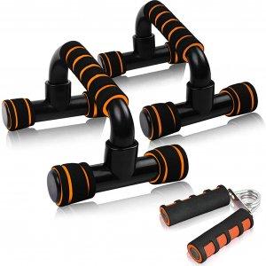 Push up bar til sort/orange til hjemmetræning