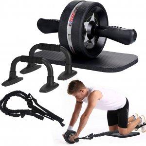 Push up stand med ab wheel og resistance rope